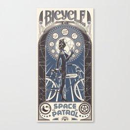 Bicycle Space Patrol Canvas Print