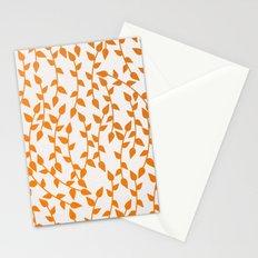 Orange plant pattern Stationery Cards