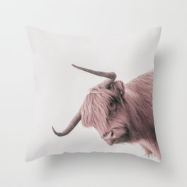 Turn Back Bull Throw Pillow