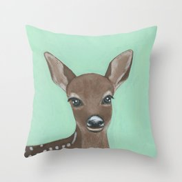 Cynthia the Deer Throw Pillow