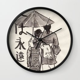 Kasa (Umbrella) Wall Clock