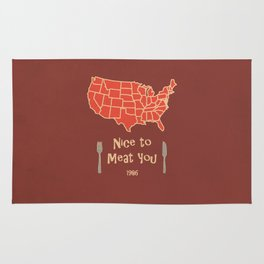 Nice to Meat You USA Map Rug