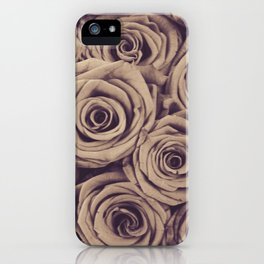Gray roses iPhone Case