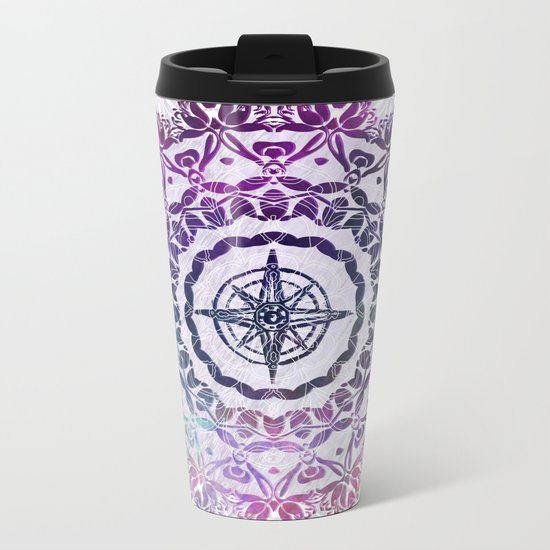 Destination Mandala Metal Travel Mug