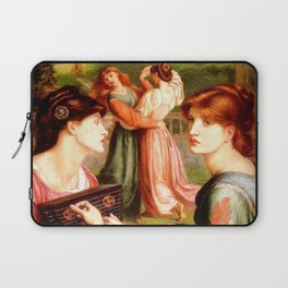 "Dante Gabriel Rossetti ""The Bower Meadow"" Laptop Sleeve"