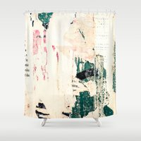 movie posters Shower Curtains featuring Posters by Patterns and Textures