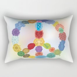 Peace Sign In Colors Rectangular Pillow