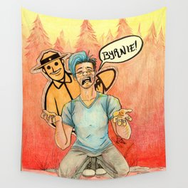 Markiplier and Forrest Byrnes - Fire Watch Wall Tapestry