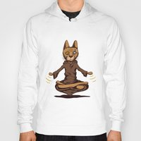 jedi Hoodies featuring Jedi cat by Toms Tomsons