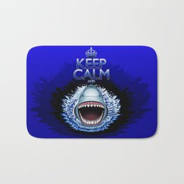 Keep Calm and...Shark Jaws Attack! Bath Mat