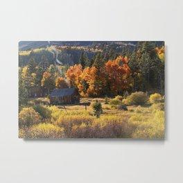 Autumn Smoke Metal Print