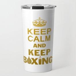Keep Boxing Travel Mug
