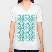 ikat V-neck T-shirts featuring Summer Ikat by Jada K McGill