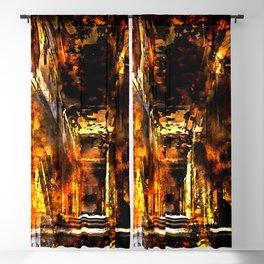 lost place dark hallway splatter watercolor Blackout Curtain