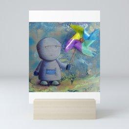 Pinwheel Robot Mini Art Print