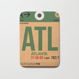 ATL Atlanta Luggage Tag 1 Bath Mat