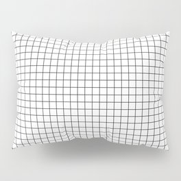 White Grid Black Line Pillow Sham