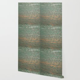 fluid coppered teal Wallpaper