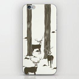 bucks in the snow iPhone Skin