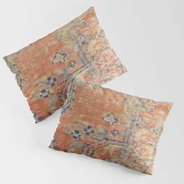 Vintage Woven Navy and Orange Pillow Sham