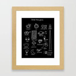 Things that Glow Framed Art Print