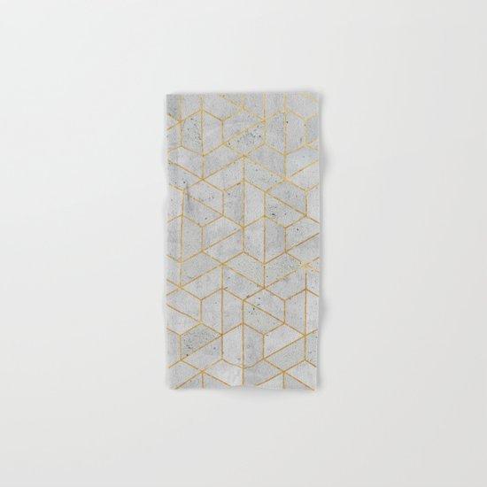 Concrete Hexagonal Pattern Hand & Bath Towel
