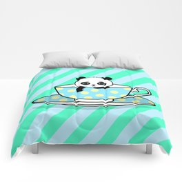A Tired Panda Comforters