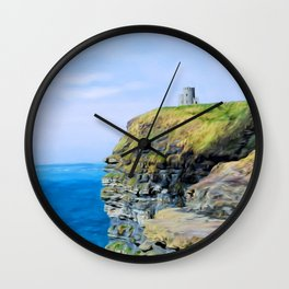 O'Brien's Tower on The Cliffs of Moher Wall Clock