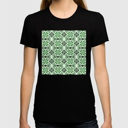 Romanian Traditional Embroidery - Green T-shirt