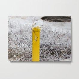 Yellow Pipe Metal Print