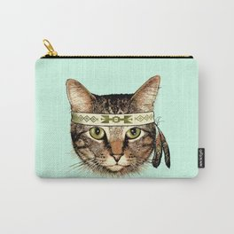 Indian Cat Head Carry-All Pouch