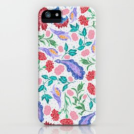 Asian-Inspired Floral Pattern For Wealth and Happiness iPhone Case
