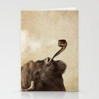 smoke Stationery Cards featuring Big Smoke by Eric Fan