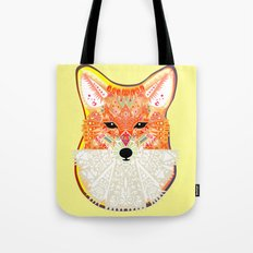 Fox in Blue Tote Bag