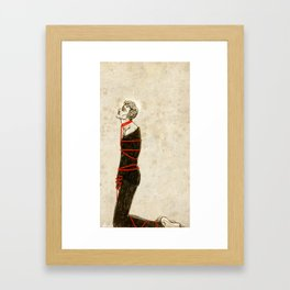 Like a startled dying man Framed Art Print