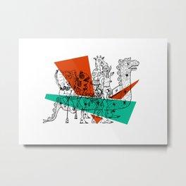 Adjacent Fourmula Metal Print