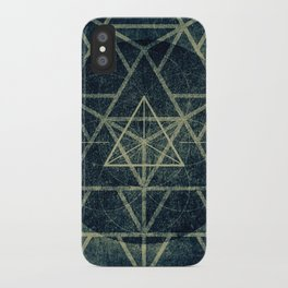 Tetrahedron Ignis Dark iPhone Case