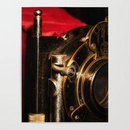 Scarlet a vintage Kodak folding camera retro art Poster