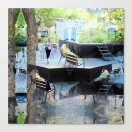 Summer space, smelting selves, simmer shimmers. [extra, 10] Canvas Print