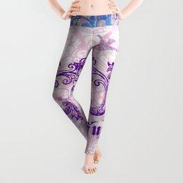 Lace and damask Leggings