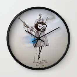 songs that were blue, songs that were grey Wall Clock