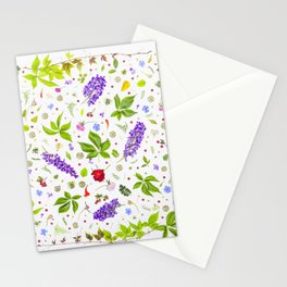 Leaves and flowers pattern (33) Stationery Cards