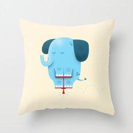 Pogolephant Throw Pillow