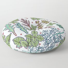 herbs pattern Floor Pillow