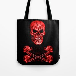 Skull And Crossbones Red Tote Bag
