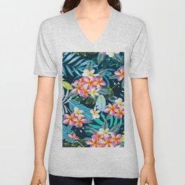 Hawaiian Flowers Unisex V-Neck