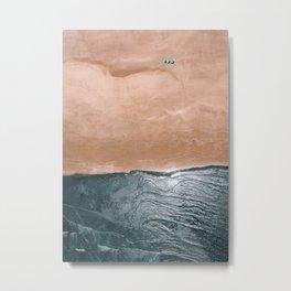 Beach Umbrellas from the Sky Metal Print