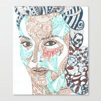 weird Canvas Prints featuring Weird by EmmyLiey