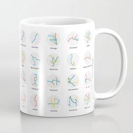Mini Metros - U.S. and Canada (Color) Coffee Mug