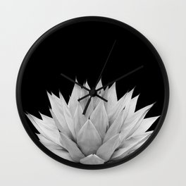 Agave Black & White Summer Night Vibes #1 #tropical #decor #art #society6 Wall Clock